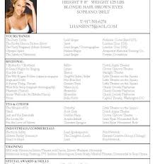 singer resume sample resume samples and resume helpmusical