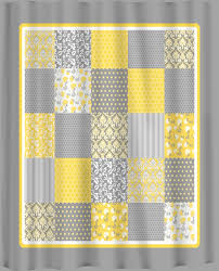 Unique Shower Curtains Charming Grey White And Yellow Curtains 63 About Remodel Unique