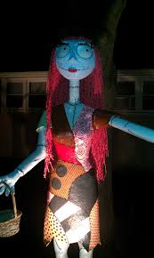 halloween props 2014 paper mache nightmare before christmas characters sally stands