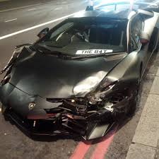 lamborghini inside 2016 terrifying moment motorists smashes his 260 000 lamborghini