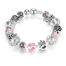 bangle style charm bracelet images I am your valentine silver pandora style bracelet bangle combo jpg