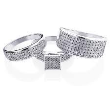 ring sets trio wedding ring sets diamond ring set 10k gold 1 24ct