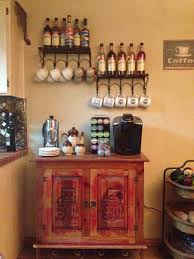 kitchen coffee bar ideas stunning coffee bar for kitchen with wall shelves and storages
