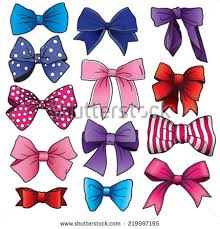 bows and ribbons set vector bows ribbons different stock vector 219997195