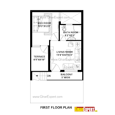50 square yard home design house plan for 20 feet by 35 feet plot plot size 78 square yards