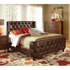 modern tufted california king size bed frame tan
