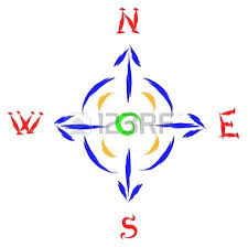vector outline compass wind rose royalty free cliparts vectors