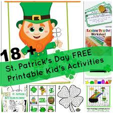18 st patrick u0027s day free printable kid u0027s activities milk