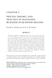 chapter 9 pricing theory and practice in managing business to