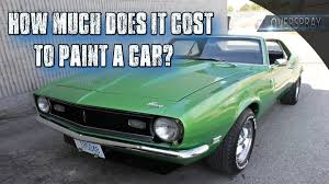how much does it cost to paint a car youtube