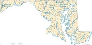 maryland map map of maryland lakes streams and rivers