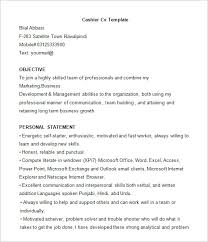 Office Word Resume Template Cashier Resume Template U2013 16 Free Samples Examples Format