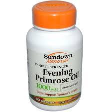 sundown naturals evening primrose oil 1000 mg 50 softgels