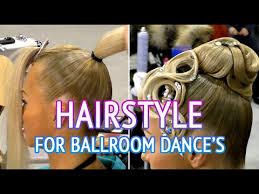 short ballroom hair cuts hairstyle for dancesport competition step1 how to make