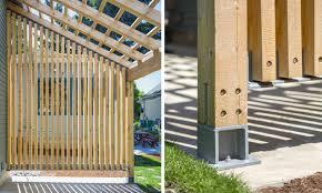adu exterior details jpg vertical wood screens pinterest