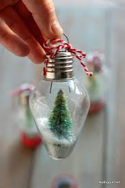 diy mini snow globe ornament globe ornament and snow