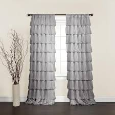 Decor Olivia Grey 84 inch Curtain Panel