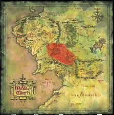 map from lord of the rings high resolution map of middle earth from lord of the rings