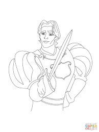 prince edward with his sword coloring page free printable