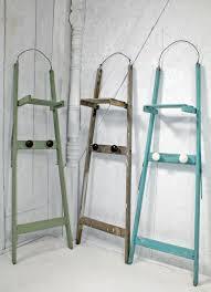 Wooden Ladder Bookcase by Wooden Ladder Rack Handyman Reclaimed Wood Ladder Shelf