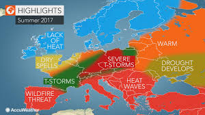 United States Storm Map by 2017 Europe Summer Forecast Heat To Dominate The South Storms To
