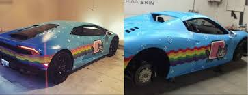 lamborghini huracan custom deadmau5 wraps lamborghini huracan in nyan cat trolls ferrari on