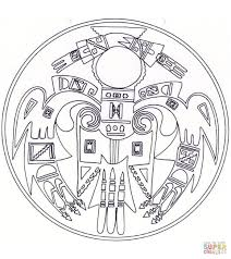 native american mandala coloring page free printable coloring pages
