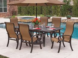 Chair King Outdoor Furniture - eclipse sling aluminum 7 pc dining set chair king
