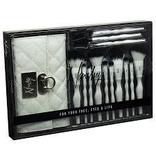 luxury travel makeup brush set from nanshy vegan cruelty free