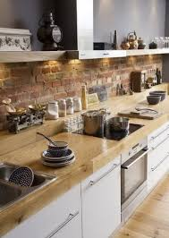 modern kitchen shelving interior design awesome brick backsplash with open kitchen