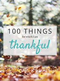 100 things to be thankful for