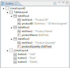 xamarin android table layout an android tablelayout and tablerow tutorial techotopia