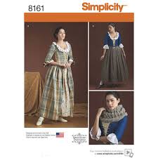Sewing Patterns Halloween Costumes Sewing Pattern 18th Century Costumes Misses Simplicity