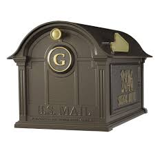 Whitehall Wall Mount Mailbox Whitehall Products Balmoral Streetside Monogram Mailbox Post
