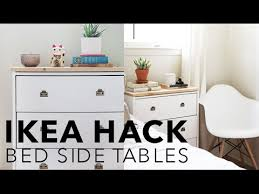 ikea bedroom side tables ikea hack bedside tables hannah eleanor youtube