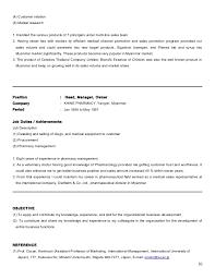 Pharmaceutical Resume Resume Sales Medical Equipment