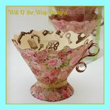 tea cup favors teacups box set of 5 paper teacup tea party favors nut treat