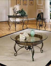 remarkable metal and glass coffee table set for interior home