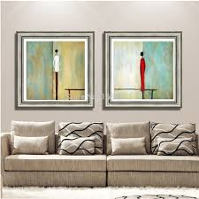 simple abstract paintings promotion shop for promotional simple modern abstract little man oil painting on canvas simple style pictures for home decorative unique home wall decoration