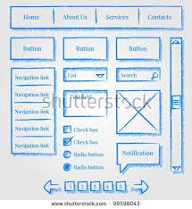 website template design sketch stock vector 98250398 shutterstock