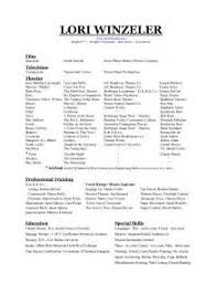 Resume For Theater Sample Resume For Theater Audition Strategic Plan Template Tool