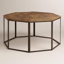 hexagon shaped kitchen table appealing hexagon coffee table brown faceted wood throughout