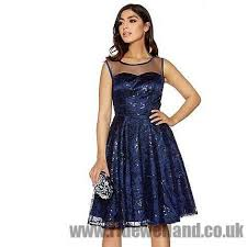 quiz navy sequin mesh sweetheart neck dress women u0027s evening