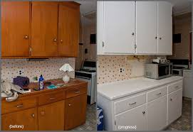 Before And After Kitchen Cabinet Painting Amazing Painting Kitchen Cabinets White Kitchen Best Painting
