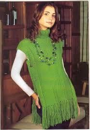 ponchos a palillo trico y crochet madona mía patrón para hacer poncho en dos agujas y