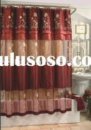 Curtain Swag Hooks Fancy Shower Curtains With Valance And Ruffled Double Swag Shower