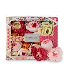 vintage u0026 co fabric u0026 flowers bath flowers
