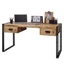 Schreibtisch Massiv Schreibtisch Iron Mango Massiv Eisen Home24