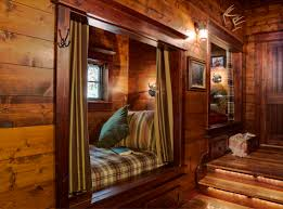 warm u0026 cozy sleeping nooks in beautiful wood cabin woman lake
