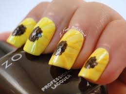 sun flower nails the most beautiful flower 2017